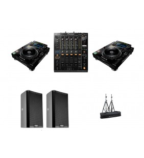 Pack Event B - 2 platines + 1 table de mixage + 2 enceintes