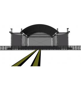 Scène couverte 12 x 10 dôme